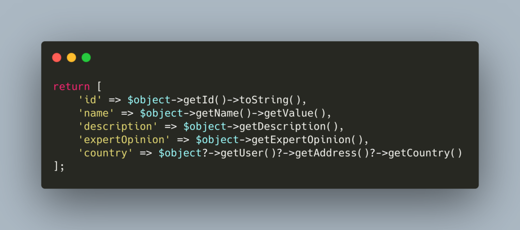 Nullsafe operator PHP 8